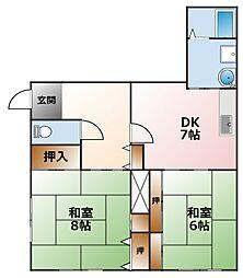 エルム甲子園[1階]の間取り