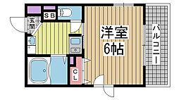 エステムコート神戸元町通[10階]の間取り