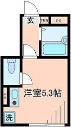 バーミープレイス平井[1階]の間取り