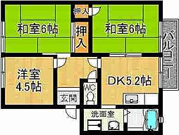 奈良県奈良市南紀寺町3丁目の賃貸アパートの間取り
