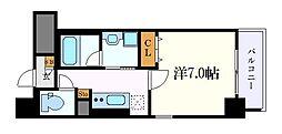 グランツェ名駅太閤通 7階1Kの間取り