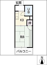 タウニー丸山[1階]の間取り