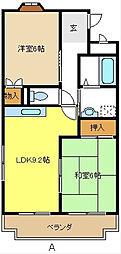 愛知県日進市梅森台1丁目の賃貸マンションの間取り