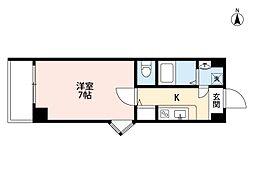 Goパレス福島[601号室]の間取り