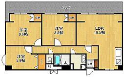 西宮ニューコーポ[8階]の間取り