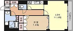 グランフォルム京都祇園[203号室号室]の間取り