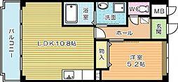 ホームメイト寿限無[302号室]の間取り