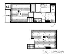 Loft 9金山[1階]の間取り