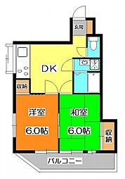 サンクレスト新井[2階]の間取り