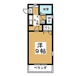 KYハウス[3階]の間取り