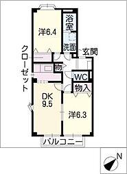 シェルブランシェ[1階]の間取り