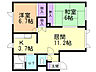 間取り,2LDK,面積51.84m2,賃料5.5万円,JR千歳線 平和駅 徒歩3分,,北海道札幌市白石区北郷二条13丁目6番20号