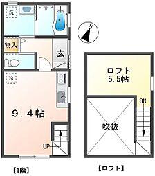 石川様貸家(仮称) 1階ワンルームの間取り