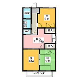 グランドール岩田[2階]の間取り