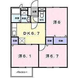 パラッツオB[1階]の間取り