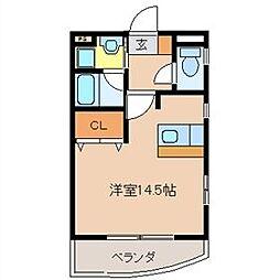 栃木県宇都宮市西原町の賃貸マンションの間取り