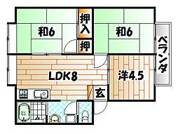 サンシティ篠崎[2階]の間取り