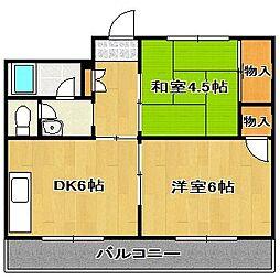 サンコーポ[3階]の間取り