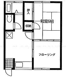 第2浅野荘[101号室]の間取り