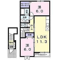 ビサイドアヴェニュー[2階]の間取り