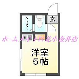 コーポ花小金井[2階]の間取り