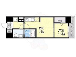 JPレジデンス大阪城東4 5階1DKの間取り