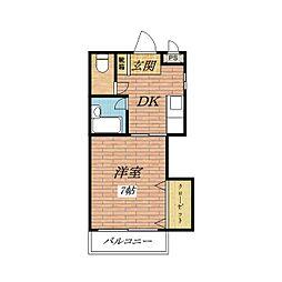 INTIMACY7[1階]の間取り