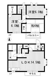 [テラスハウス] 東京都杉並区松ノ木3丁目 の賃貸【/】の間取り