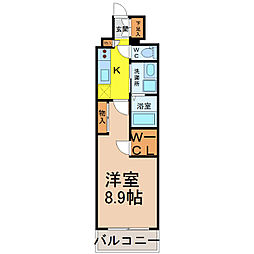 愛知県名古屋市中村区名駅南1丁目の賃貸マンションの間取り