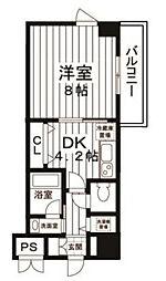 アレンダール梅田西[5階]の間取り