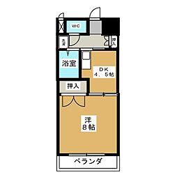 サザン名駅EAST[9階]の間取り