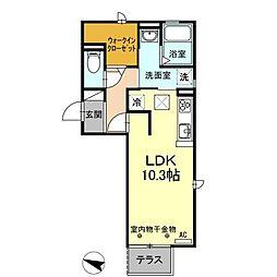 (仮)D−room刈谷市南桜町[201号室]の間取り