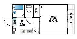 ウィングワン[2階]の間取り