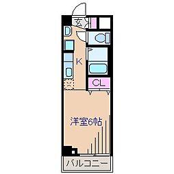 WOODBELLVI[2階]の間取り