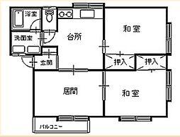 セジュール下村[102号室]の間取り
