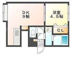 EAST BLUE[3階]の間取り