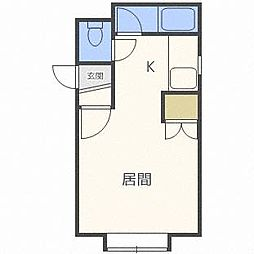 フォレストヒルズ東札幌[3階]の間取り