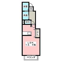 セリーナA[1階]の間取り