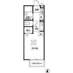 南海高野線 北野田駅 徒歩26分の賃貸アパート 1階1Kの間取り