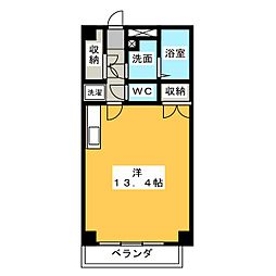 アロンノーブルII[4階]の間取り