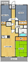 昭和コンフォルト前原[4階]の間取り