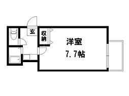 ラフィーネ一乗寺[3階]の間取り