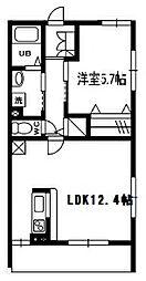 東京都大田区東蒲田2丁目の賃貸アパートの間取り