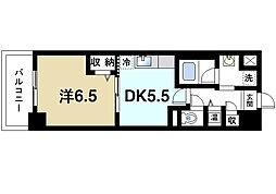 奈良県生駒市西松ケ丘の賃貸マンションの間取り