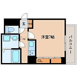 近鉄大阪線 五位堂駅 徒歩7分の賃貸アパート 2階1Kの間取り