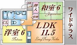 オーク東須磨[1階]の間取り