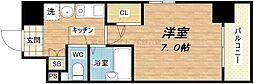 大阪府大阪市中央区上本町西2の賃貸マンションの間取り