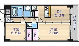 BGC難波タワー[6階]の間取り