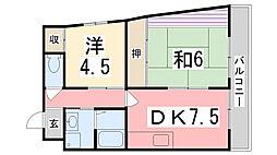 フォレストコート[3階]の間取り