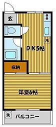 コーポ島田[1階]の間取り